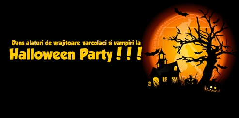 Halloween Party - vineri 29 octombrie ora 19
