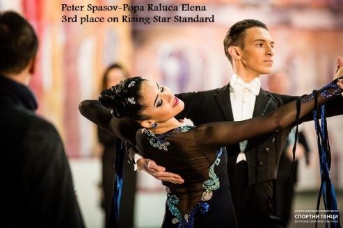 Peter Spasov- Popa Raluca Elena locul III la Rising Star Standard